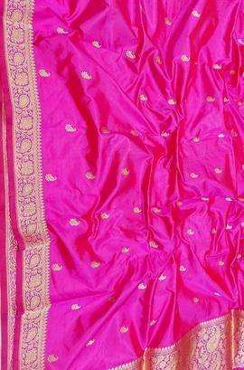 Pure silk banarasi handloom dupatta - luxurionworld