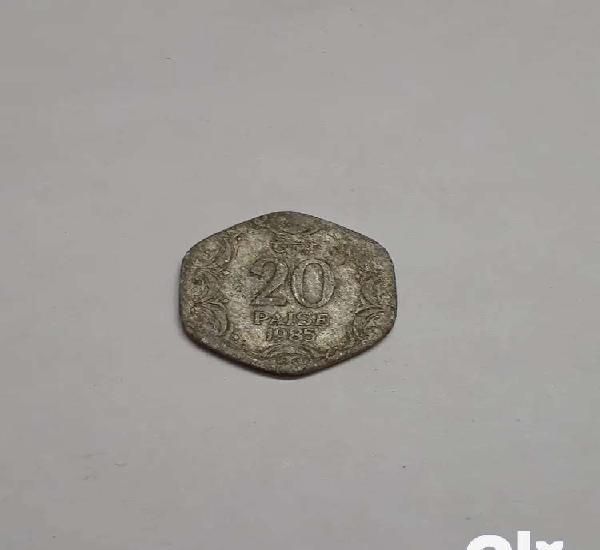 RARE] 20 Paise coin (100% Original)   1985 Edition
