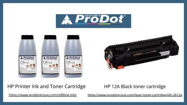 Hp 12a black toner cartridge   hp printer ink and toner
