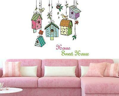 Home sweet home removable bedroom art mural vinyl wall