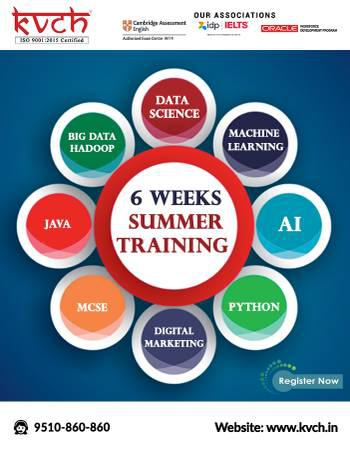 Learn 6 week project based python industrial training in