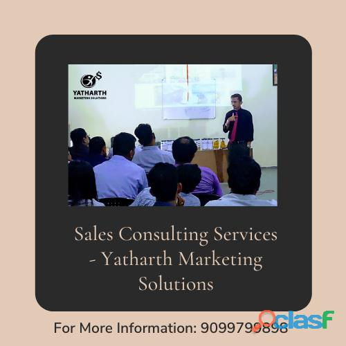 Sales consulting services   yatharth marketing solutions