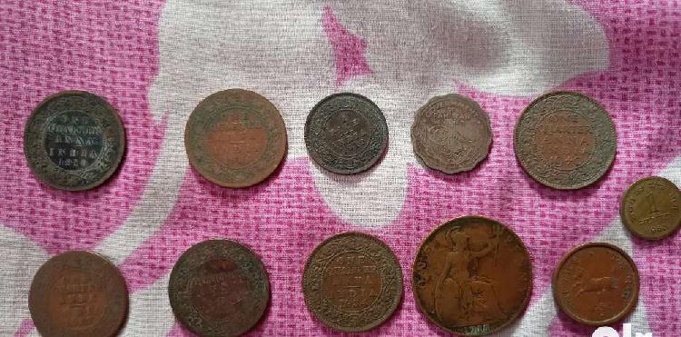 Old coins of different ages..
