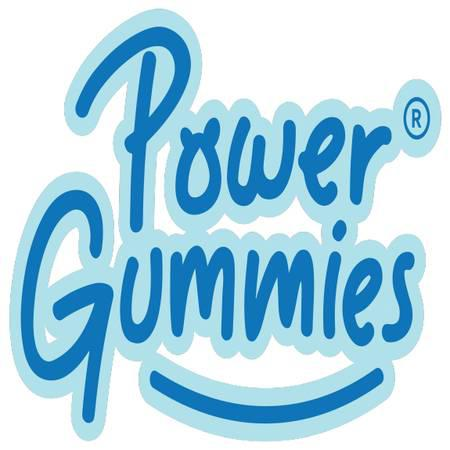 "Power gummies - ""health powered by happiness & backed by"