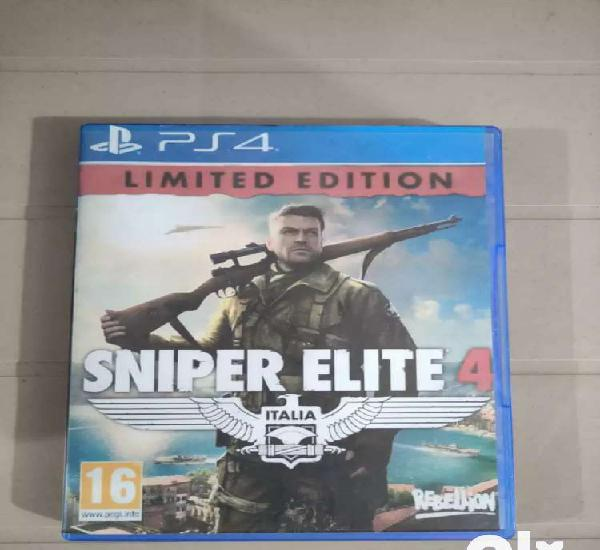 Sniper elite 4 and second son ps4 2 best games