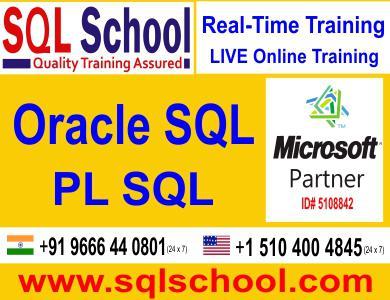 Pl sql best online training @ sql school