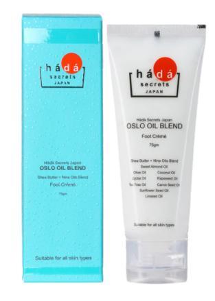 Hada secrets japan oslo oil blend foot cream with shea