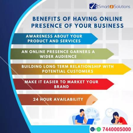Benefits of having online presence of your business -