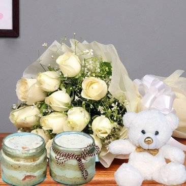 Buy/send white rose flower online across india - farm &