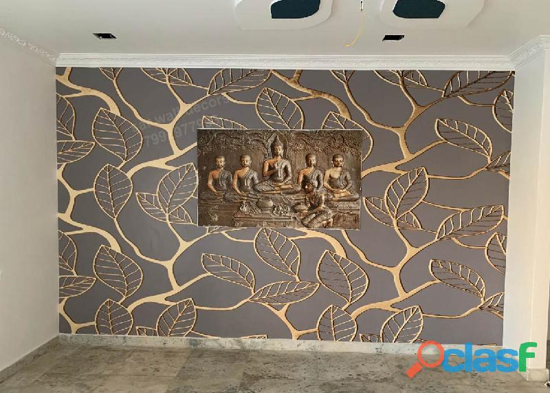 Custom 3d wallpaper abstract background home decors