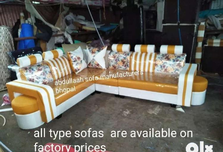 Designer sofa set l shape new direct from factory at