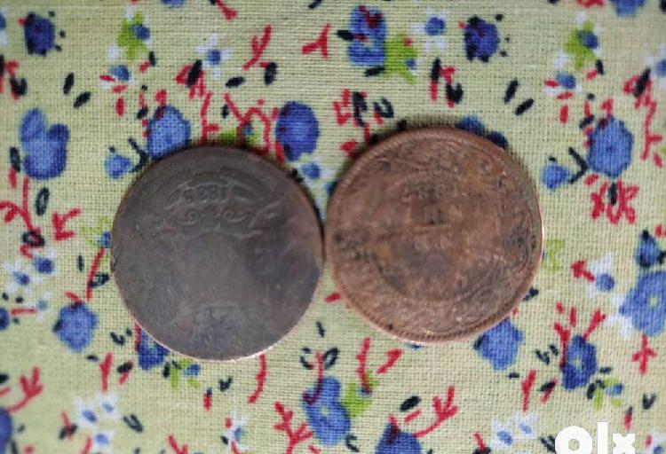 2 very rare old coins 1835 & 1887 years