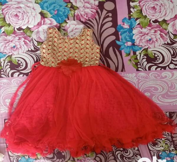 Party gown red colour 22 size