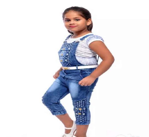 Aayat fashion girls' knee length dungaree aayat fashion