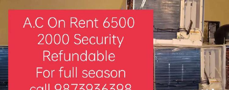 A.c on rent (hire) work is on during lock down