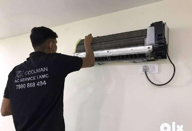 Full ac machine wash full ac jet service ac installation &