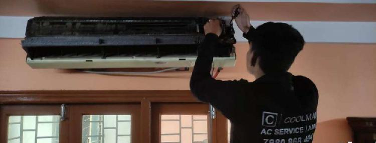 Jet ac cleaning rs.500 split ac installation rs.1200
