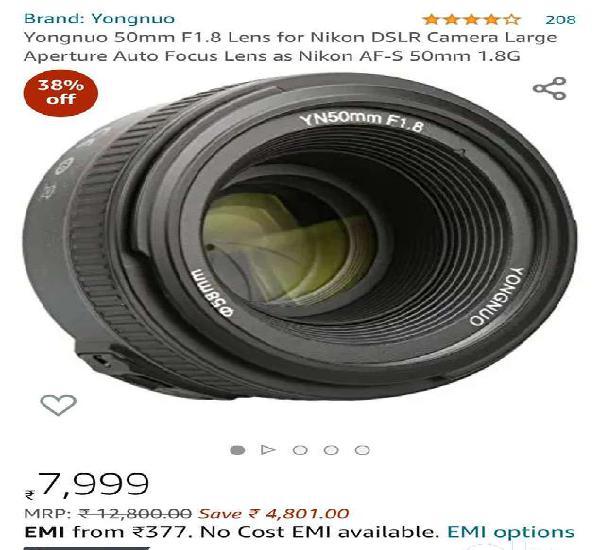 Yongnuo 50mm 1.8 lense for nikon