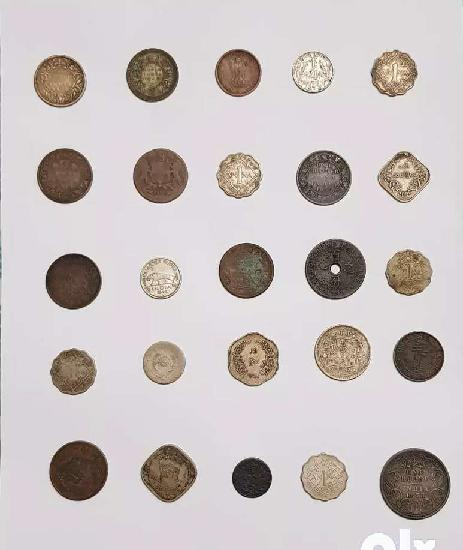 Antique coins (assorted 50 no's dated 1800 to 1950)