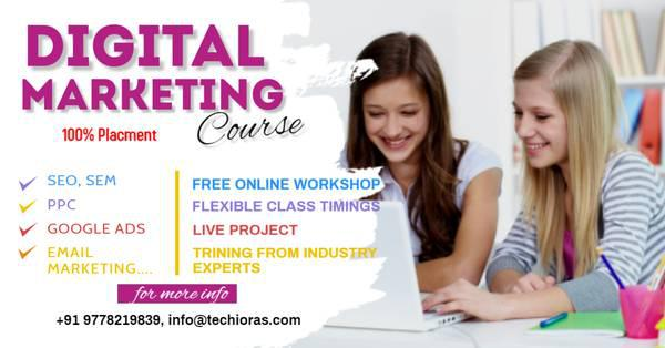 Learn digital marketing with 100% placement - lessons &