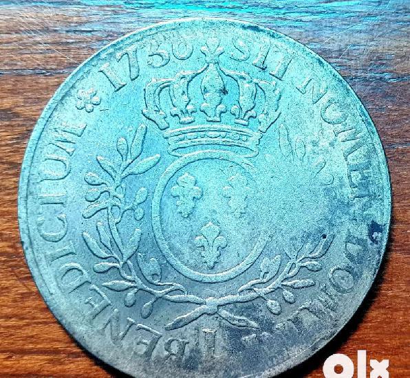 Rare antique unique mint 1730 big size coin.all india