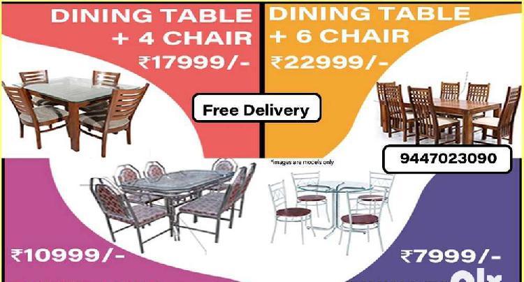 120. dining table   wooden   steel   metal   teak accasia