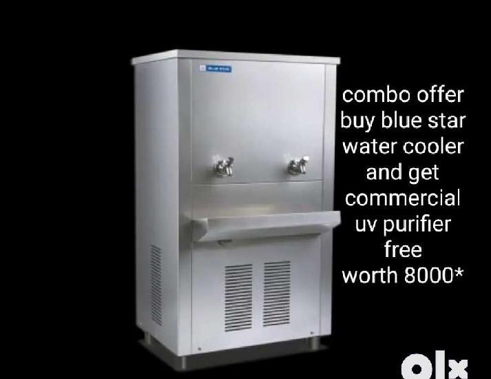 Brand new blue star water cooler ss 6080 free water purifier