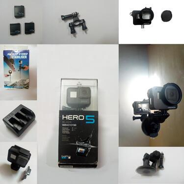 Gopro hero 5 with full set accessories