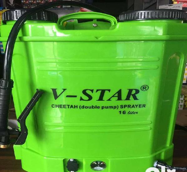 Double pump battery sprayer @ wholesale price