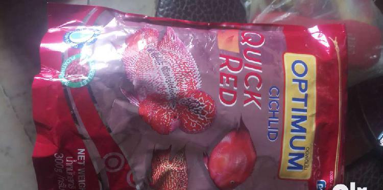 Optimum cichlid quick red small pellet chiclid fish food