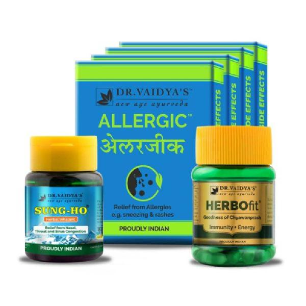 Buy dr.vaidya's ayurvedic pack for allergy & cold relief in