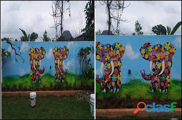 Resort wall apintings// resort paintings