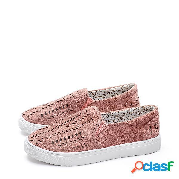 Pink fashion hollow design sneakers