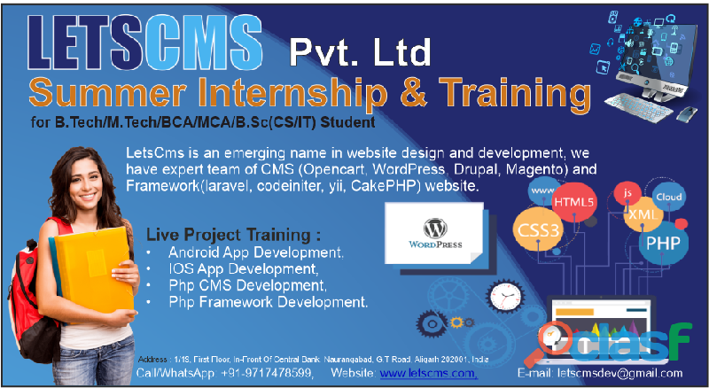 Winter training & internship | web application solution company | letscms private limited