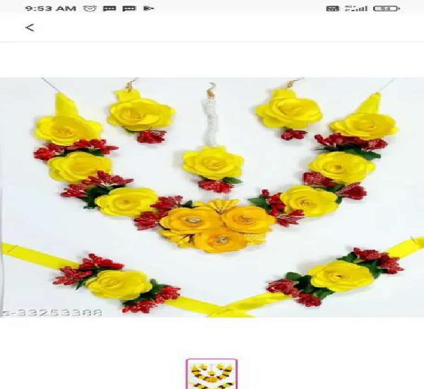 Fashion jewellery for haldi, mehendi