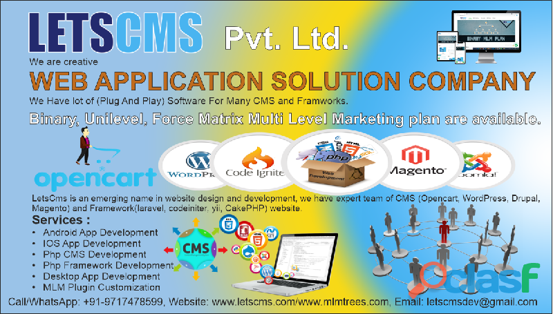 Best MLM Software and Web Application Development Company In India | LETSCMS Pvt. Ltd.