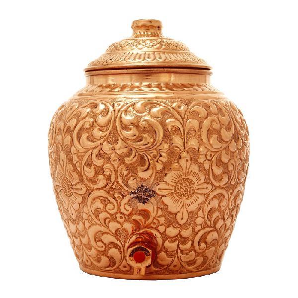 Buy designer copper water pot and water dispenser online -