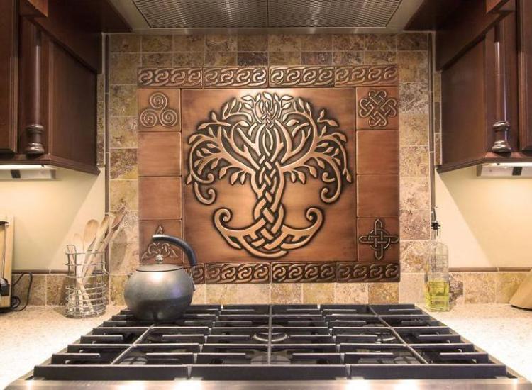 Handmade copper tiles